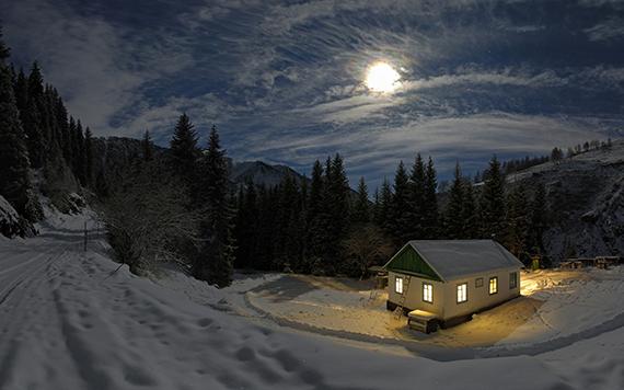 Muhteşem bir kış manzarası
