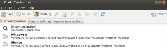 Ubuntu 13.10 Grub Customizer